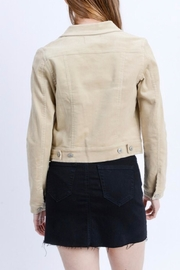 Love Tree Cropped Corduroy Jacket - Side cropped