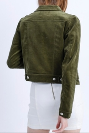 Love Tree Cropped Corduroy Jacket - Front full body