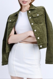 Love Tree Cropped Corduroy Jacket - Front cropped