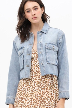Love Tree Cropped Denim Jacket - Product List Image