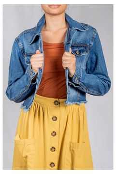 Love Tree Cropped Jean Jacket - Product List Image