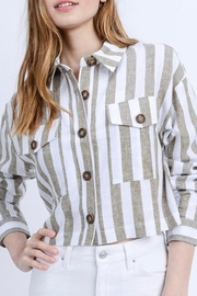 Love Tree Cropped Linen Jacket - Side cropped