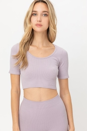 Love Tree Cropped Seamless Top - Side cropped