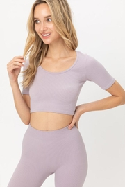 Love Tree Cropped Seamless Top - Front cropped