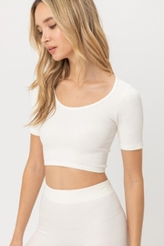 Love Tree Cropped Seamless Top - Front full body