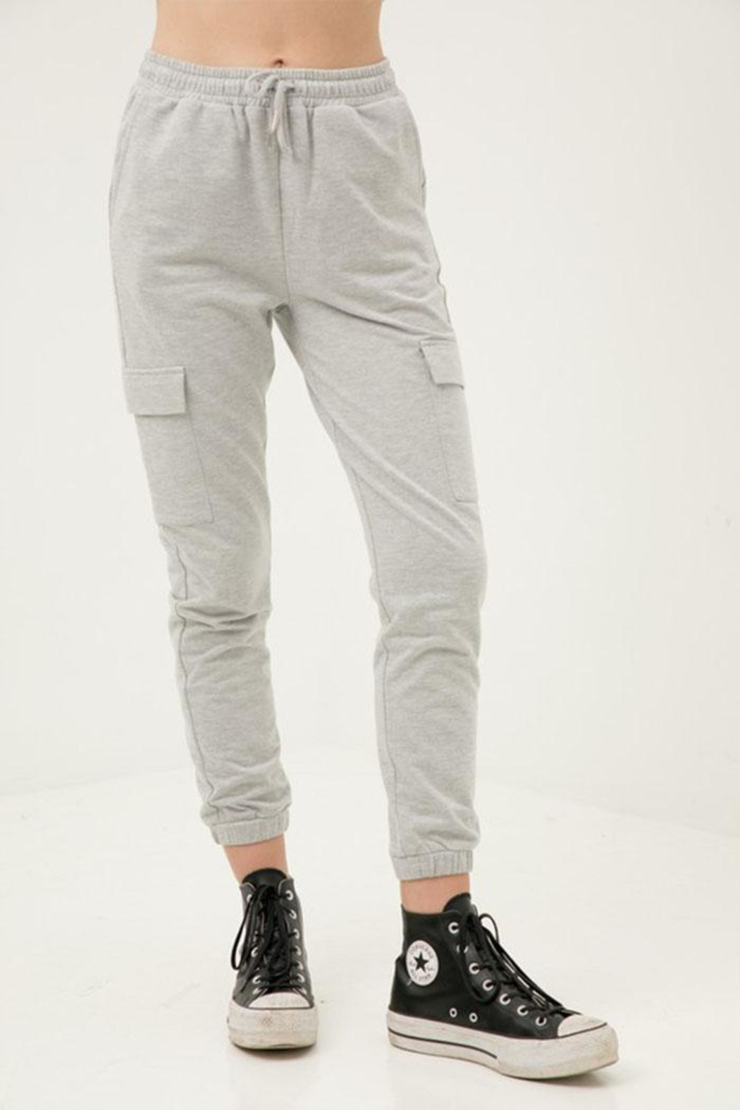 Love Tree Cropped Slim Joggers - Front Cropped Image
