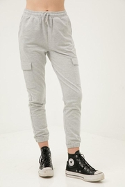Love Tree Cropped Slim Joggers - Front cropped