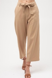 Love Tree Cropped Tie Pants - Product Mini Image