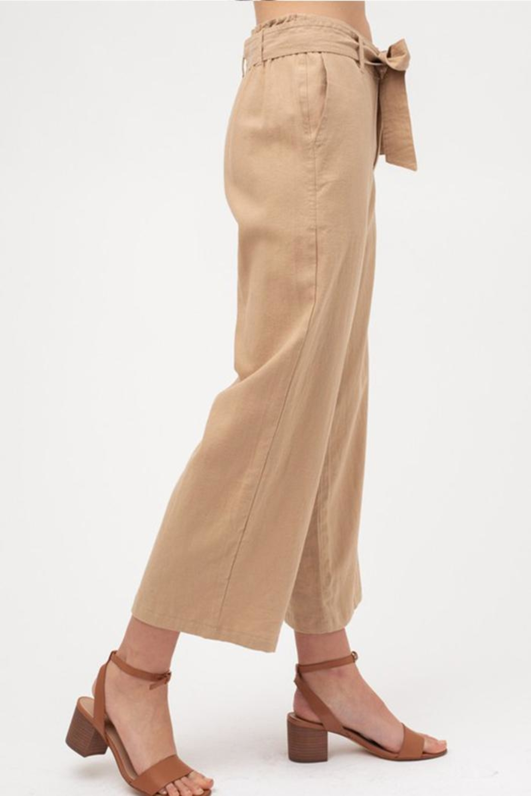 Love Tree Cropped Tie Pants - Side Cropped Image