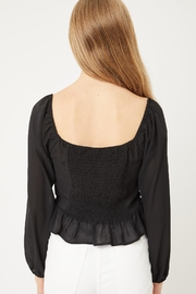 Love Tree Delany Blouse (In Terra Cotta, Black, And Cocoa) - Front full body