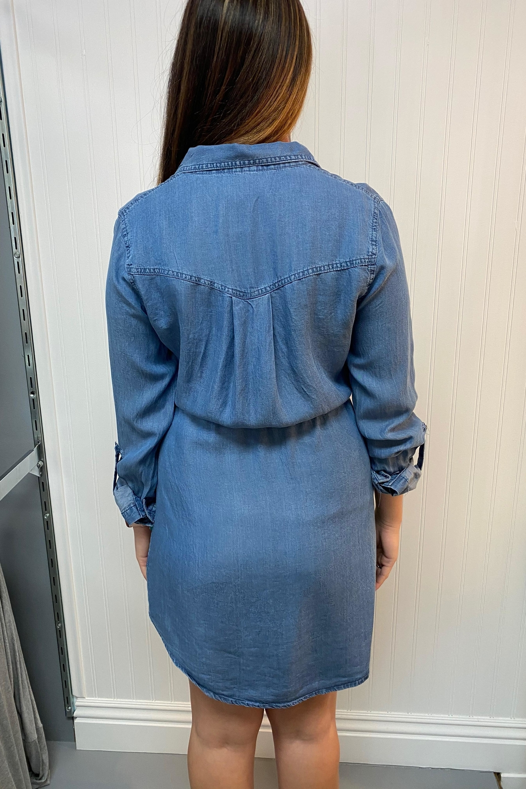 Love Tree Denim Dress - Front Full Image