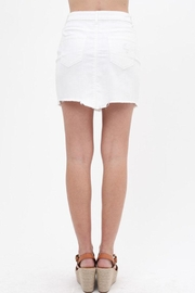Love Tree Denim Frayed Skirt - Back cropped