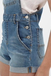 Love Tree Denim Overall Shorts - Back cropped