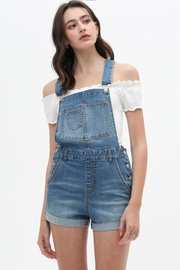 Love Tree Denim Overall Shorts - Front cropped