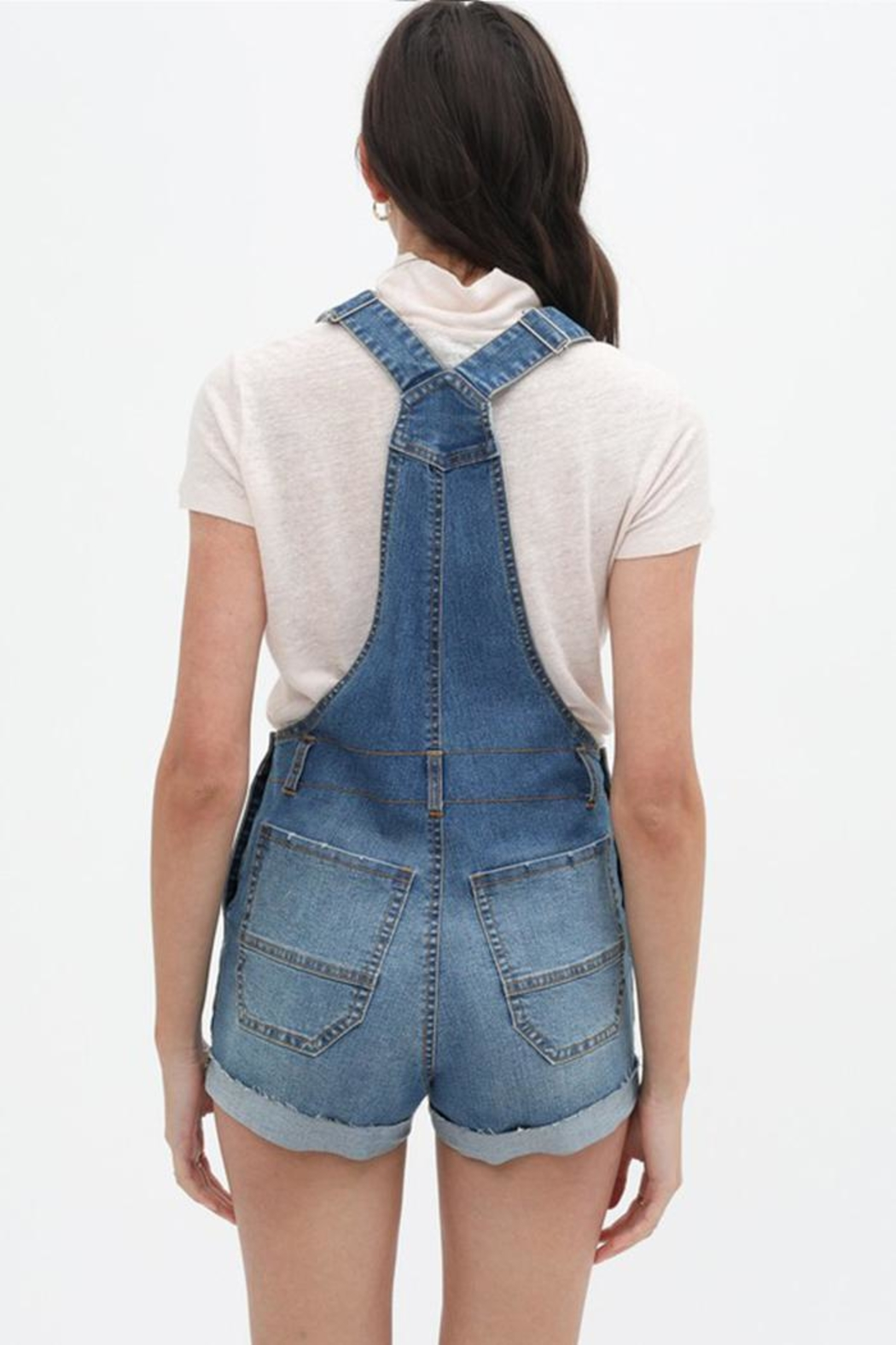 Love Tree Denim Overall Shorts - Side Cropped Image