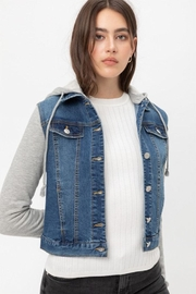 Love Tree Denim Twofer Jacket - Product Mini Image