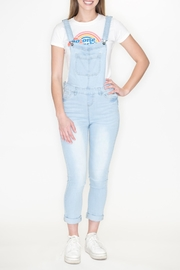 Love Tree Distressed Denim Overalls - Front cropped