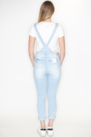 Love Tree Distressed Denim Overalls - Side cropped