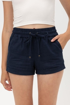 Shoptiques Product: Drawstring Linen Shorts