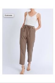 Love Tree Elastic Linen Pants - Product Mini Image