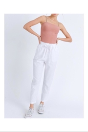 Love Tree Elastic Linen Pants - Front cropped