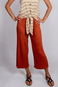 Love Tree Elastic-Waist Button Trousers - Product List Image
