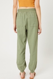 Love Tree Elastic Waistband Pants - Front cropped