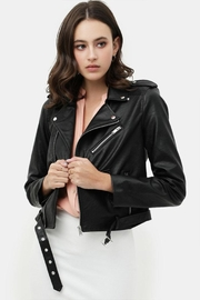 Love Tree Faux Leather Jacket - Front cropped