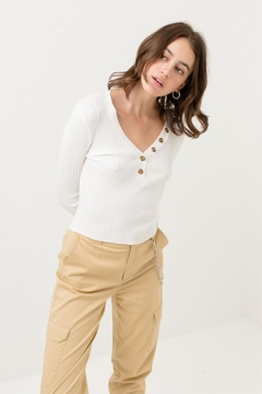 Shoptiques Product: Fitted Knit Sweater