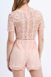 Love Tree Floral Lace Romper - Back cropped