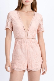 Love Tree Floral Lace Romper - Front full body