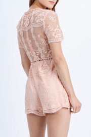 Love Tree Floral Lace Romper - Side cropped