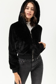 Love Tree Fur Hooded Jacket - Front cropped