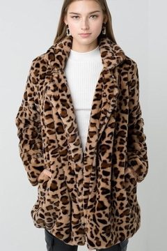Shoptiques Product: Furry Leopard Jacket