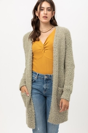 Love Tree Fuzzy Popcorn Cardigan - Front cropped