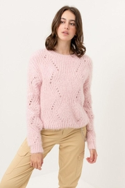 Love Tree Fuzzy Pullover Sweater - Back cropped
