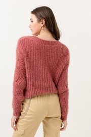 Love Tree Fuzzy Pullover Sweater - Side cropped