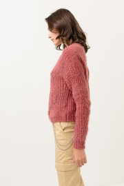 Love Tree Fuzzy Pullover Sweater - Front full body