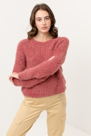 Love Tree Fuzzy Pullover Sweater - Front cropped