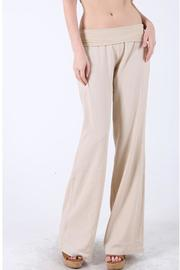 Love Tree Khaki Linen Pants - Product Mini Image