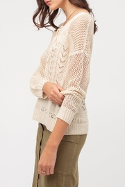 Love Tree Knit Vintage-Inspired Sweater - Front full body