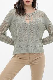 Love Tree Knit Vintage-Inspired Sweater - Front cropped