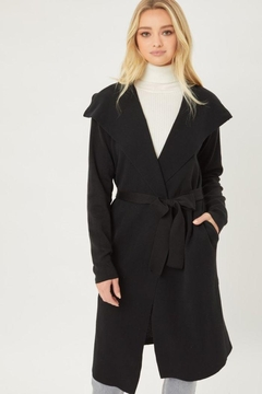 Shoptiques Product: Knitted Coat With Ribbon Waist