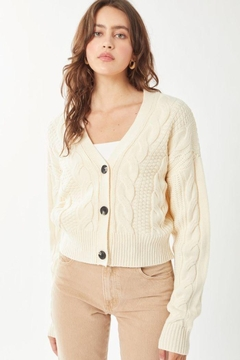 Shoptiques Product: Knitted Sweater Cardigan