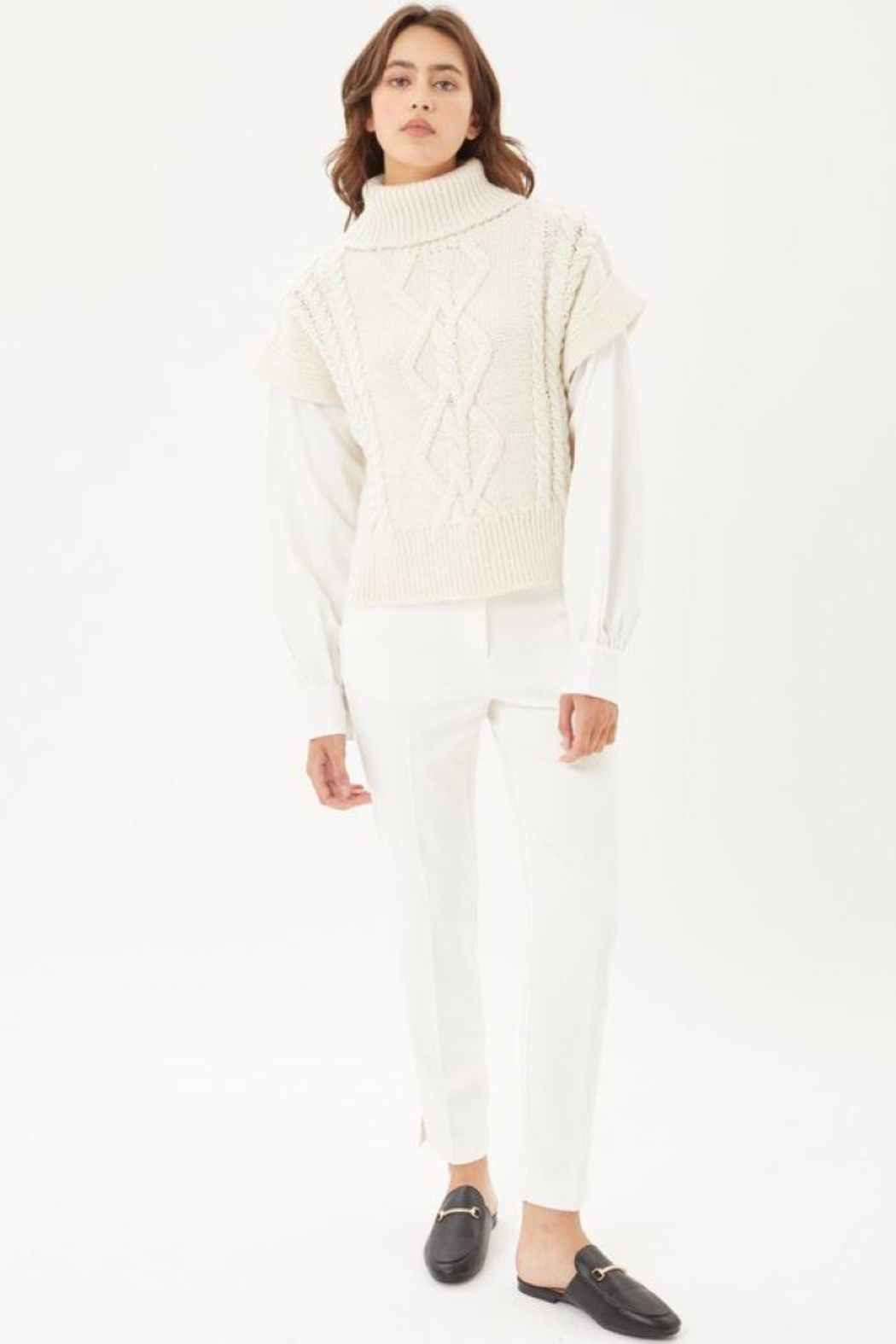 Love Tree Knitted Sweater Turtleneck Top - Main Image