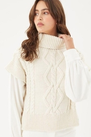 Love Tree Knitted Sweater Turtleneck Top - Front full body