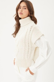 Love Tree Knitted Sweater Turtleneck Top - Side cropped