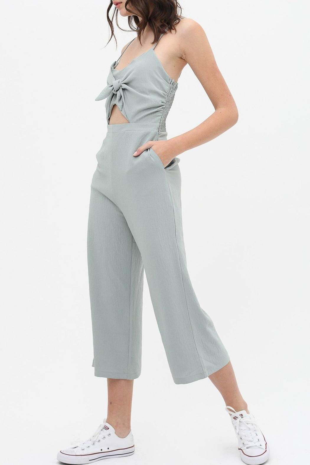 Love Tree Knot Front Jumpsuit - Front Full Image