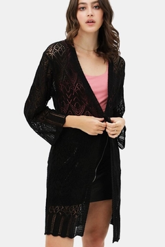 Shoptiques Product: Lace Bell Sleeve See Through Cardigan