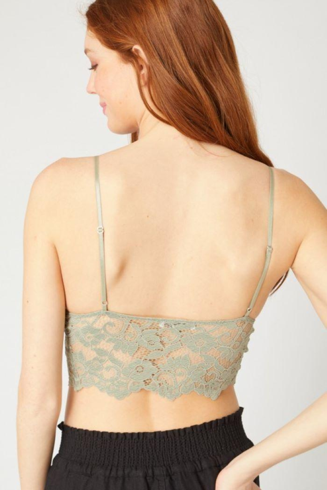 Love Tree Laced Bralette Cami Top - Side Cropped Image
